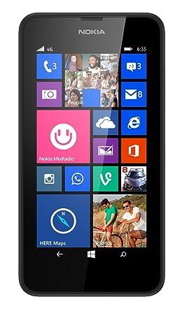 nokia 4g phones. nokia lumia 635 8gb unlocked gsm 4g lte windows 8.1 quad-core phone - black 4g phones 0