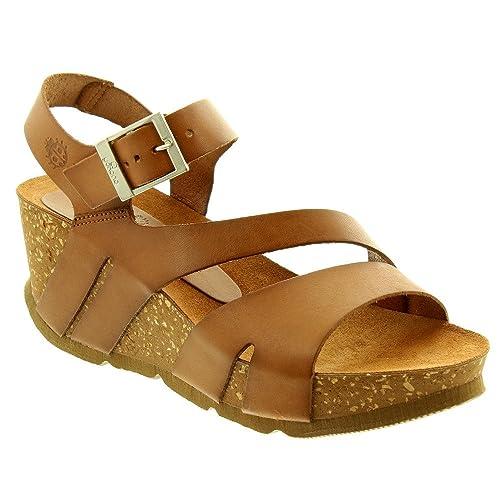 4531e1f19 Yokono Ladies Bari 002 Wedge Sandals in Brown  Amazon.co.uk  Shoes ...