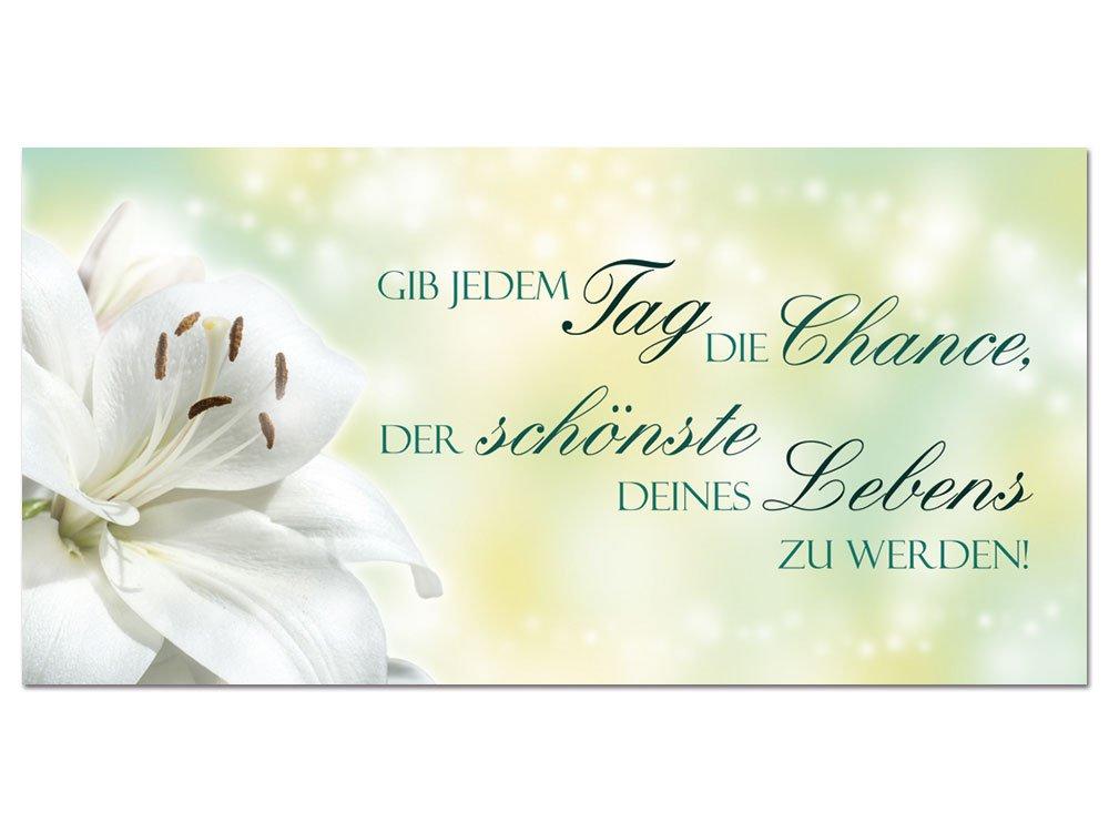 GRAZDesign 100432_001_01_04 Acrylglas Wandbild mit Spruch Gib Jedem ...