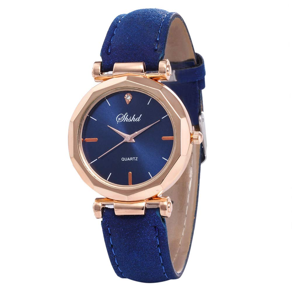 Wrist Watch,VANSOON Women Leather Casual Watch Luxury Analog Quartz Crystal Wristwatch Retro Leather Band Teen Girls Dress Simple Bracelet Watches Gift Clearance