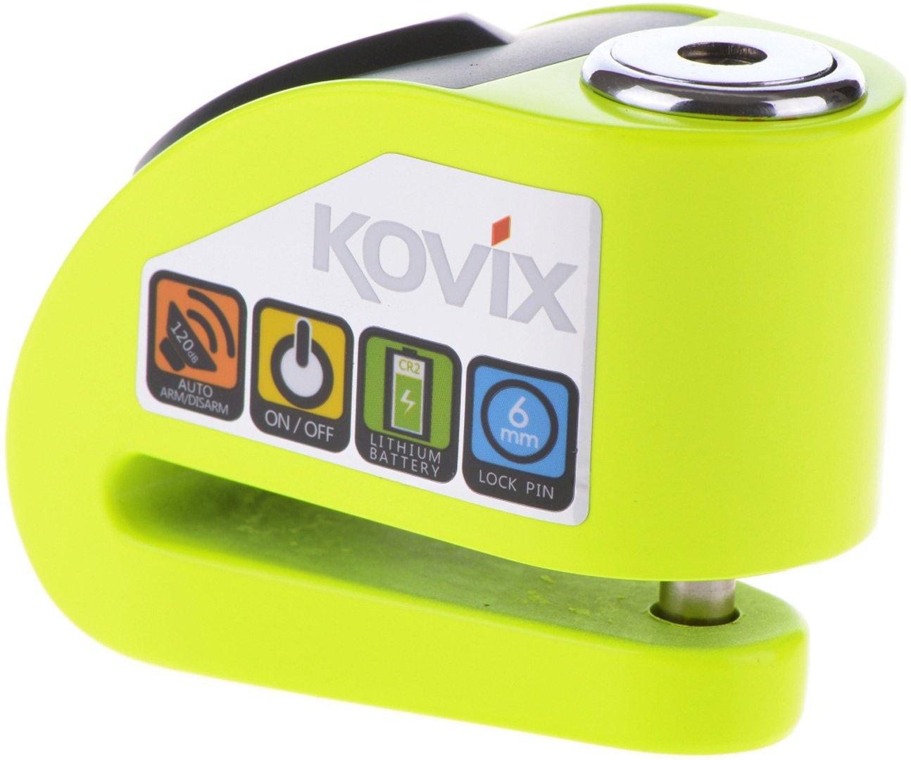 KOVIX KD Series-BLOCCADISCO con Allarme 6MM KD6-BK