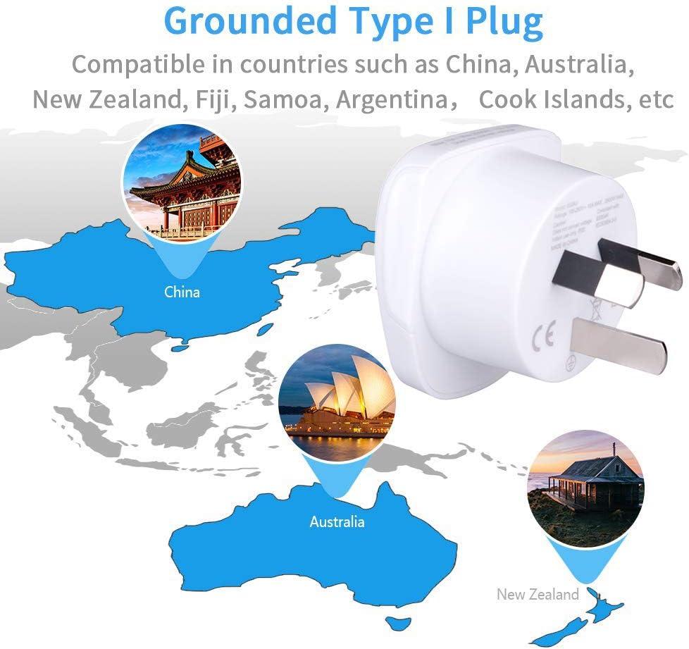 Australia Australien Thailand EU Europe European US USA Amerika Irland Stecker Universal Steckdose International 3 Pin New Zealand Neuseeland Adapter Plug Reise Typ I to zu UK Asia Asien China