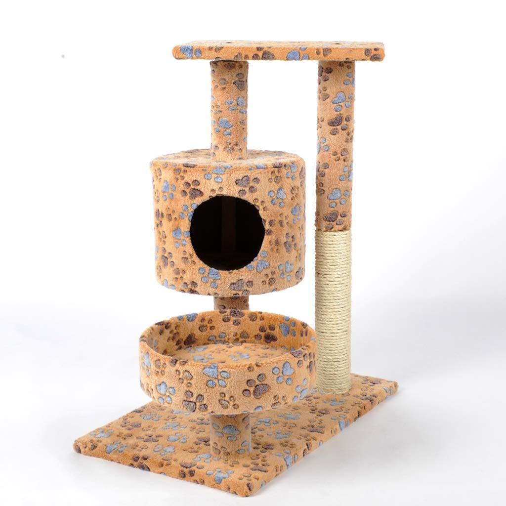 Multi-colord 39.5x59.5x77cm Multi-colord 39.5x59.5x77cm YSDHE Cat Tree Cat Climbing Frame Cat Nest Cat Toy Cat Shelf Cat Hole Cat Tower Cat Scratch Board (color   Multi-colord, Size   39.5x59.5x77cm)