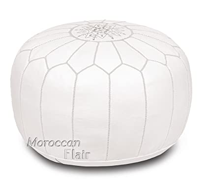 promo code 950ba 1d80e Amazon.com: Stuffed Handmade Genuine Leather Moroccan Pouf ...