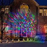LED Turning and Swirling Lightshow Spotlight Projection – Projects up to 20 Feet