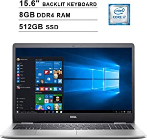 Dell Inspiron 5000 15.6 Inch FHD 1080P Touchscreen Laptop (Intel Core i7-1065G7 up to 3.9GHz, 8GB DDR4 RAM, 512GB SSD, Intel UHD Graphics, Backlit KB, HDMI, WiFi, Bluetooth, Win10)