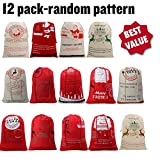 Best Deal Christmas Santa Claus Reindeer Gifts Bags Sack Burlap large capacity 19.7