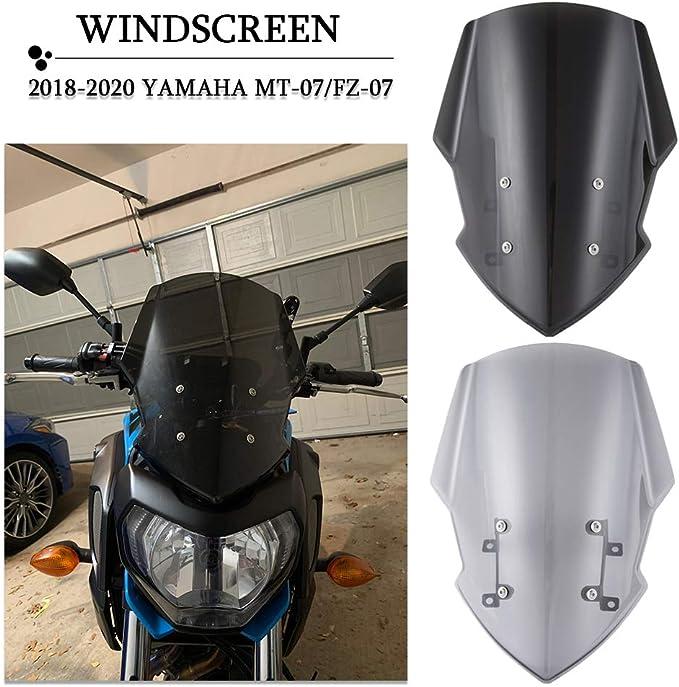 Pare-brise Windshield Windscreen For YAMAHA MT07//FZ07 2018-2020 MT 07//FZ 07