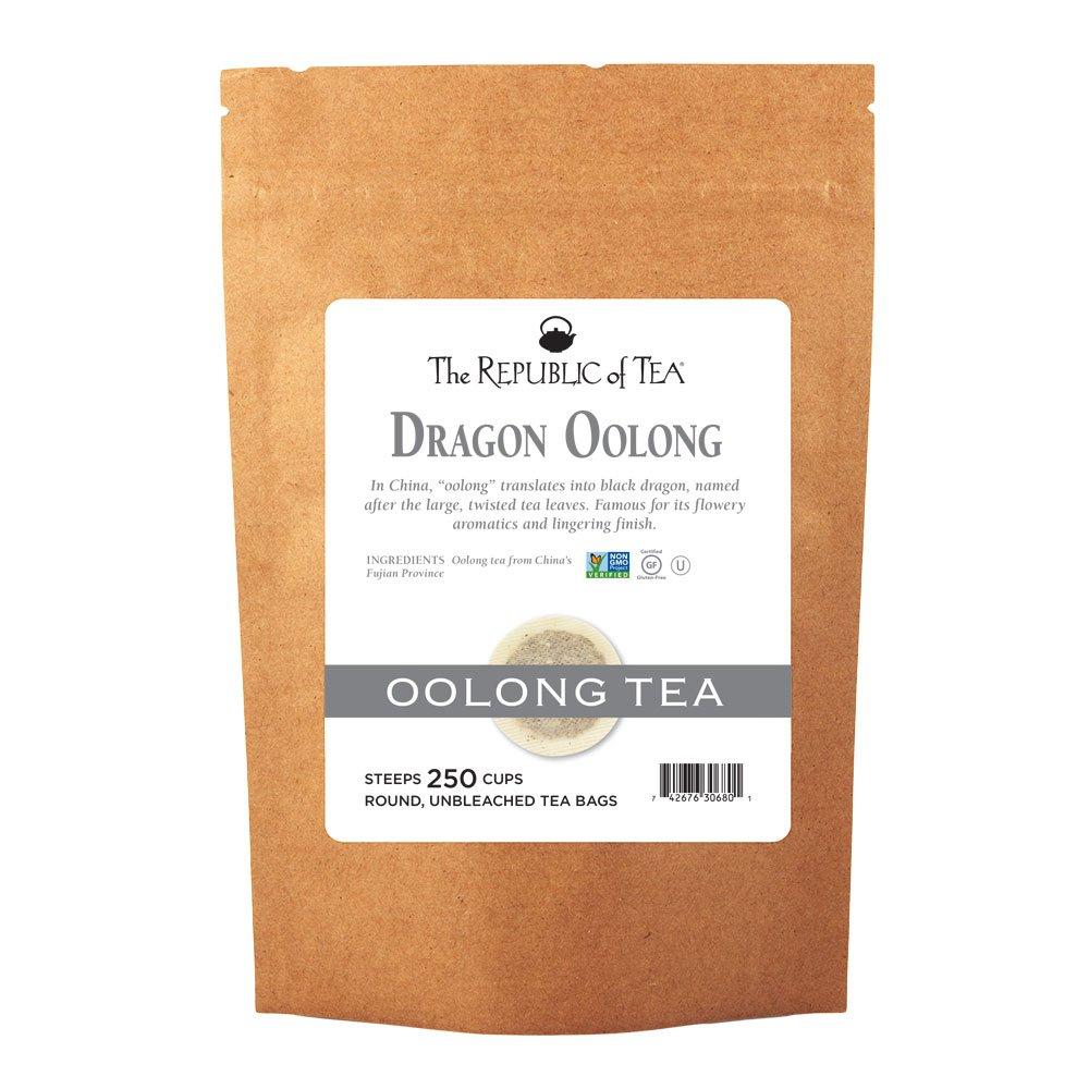 The Republic of Tea Dragon Oolong Tea Bulk, 250 Tea Bags, Pure Black Dragon Oolong, Traditional Chinese Tea by The Republic of Tea