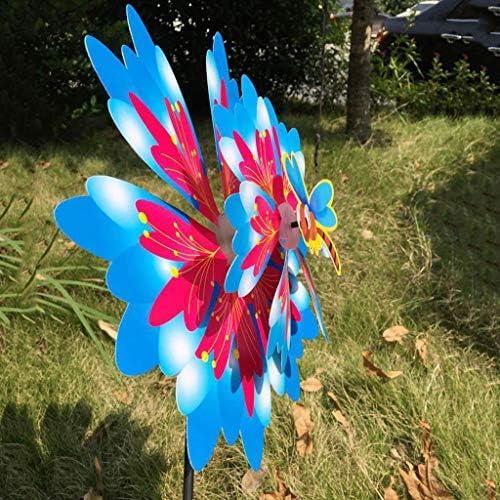3D Beau moulin à vent Pinwheel jouet jardin d/'abeille jardin extérieur