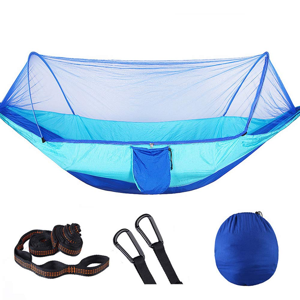 Oufiyap Outdoor Camping Hammock Automatic Quick-Opening Mosquito Net Hammock with High Version of The Air Tent (Blue) by Oufiyap