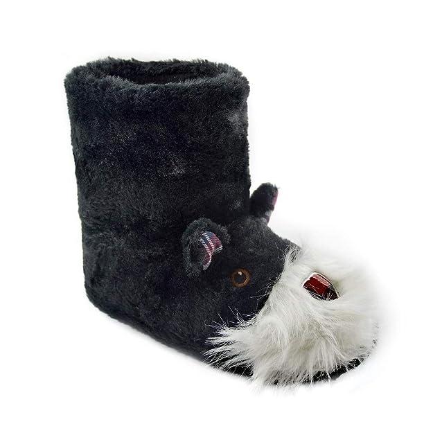 Zapatillas de Mujer con Perro Peluche Super Suave Zapatilla de Invierno Mujeres: Amazon.es: Zapatos y complementos