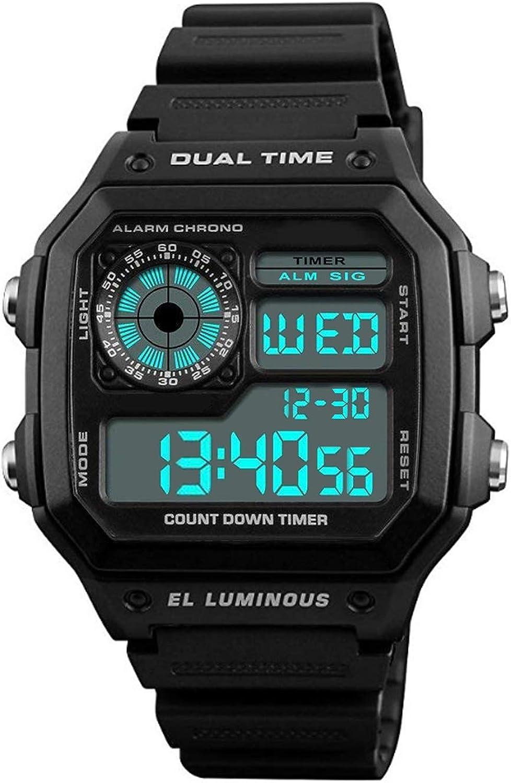 Moulin Men s Dual-Time Countdown Alarm Chronograph Black PU Watch 03093-76189