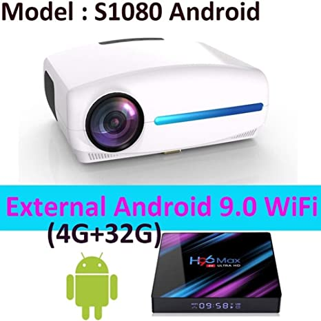 HD Proyector Full HD 1080P 4K, Android 9.0 Opcional, resolución ...
