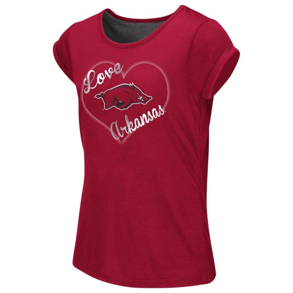 【有名人芸能人】 Arkansas Razorback Girls Tee杢Split Back Tシャツ YTH Arkansas (4-5) Girls Razorback B06W5781KV, 沼田町:2eaf938f --- a0267596.xsph.ru