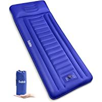 Sable Camping Sleeping Pad/Mat, Most Comfortable Camp Sleep Air Mattress with Built-in Pillow & Pump, Insulated…
