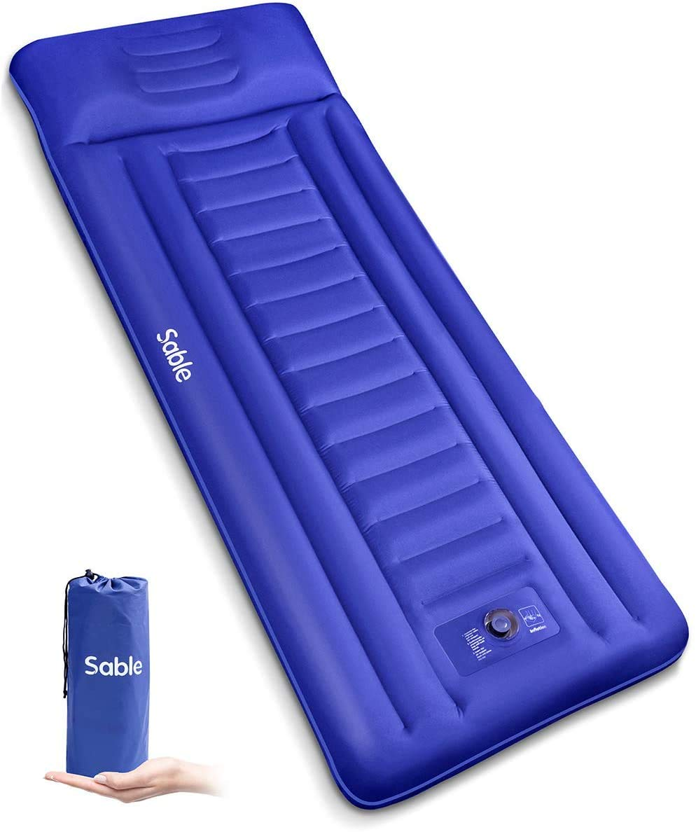 Sable Camping Sleeping Pad/Mat Most Comfortable Camp Sleep Air Mattress with Built-in