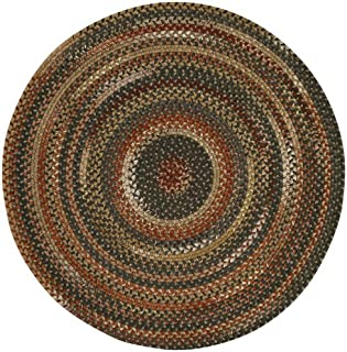 """product image for Capel Rugs Manchester Brown Hues 15"""" Chairpad Round Braided Rug"""