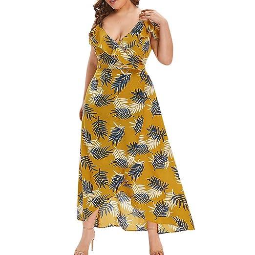 31830d0f8d92 Amazon.com: VonVonCo Women's Plus Size V-Neck Casual Bohemian Off ...