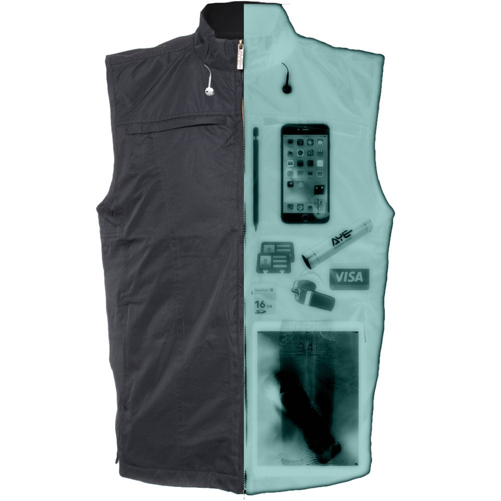 AyeGear V26 Vest with 26 Pockets, Dual Pockets for iPad or Tablets, Black L by AyeGear