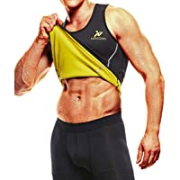 NINGMI Mens zweet Vest Taille Trainer - Sauna Suits Neopreen Body Shaper Running Vest Tank Top Workout Gym Shirt
