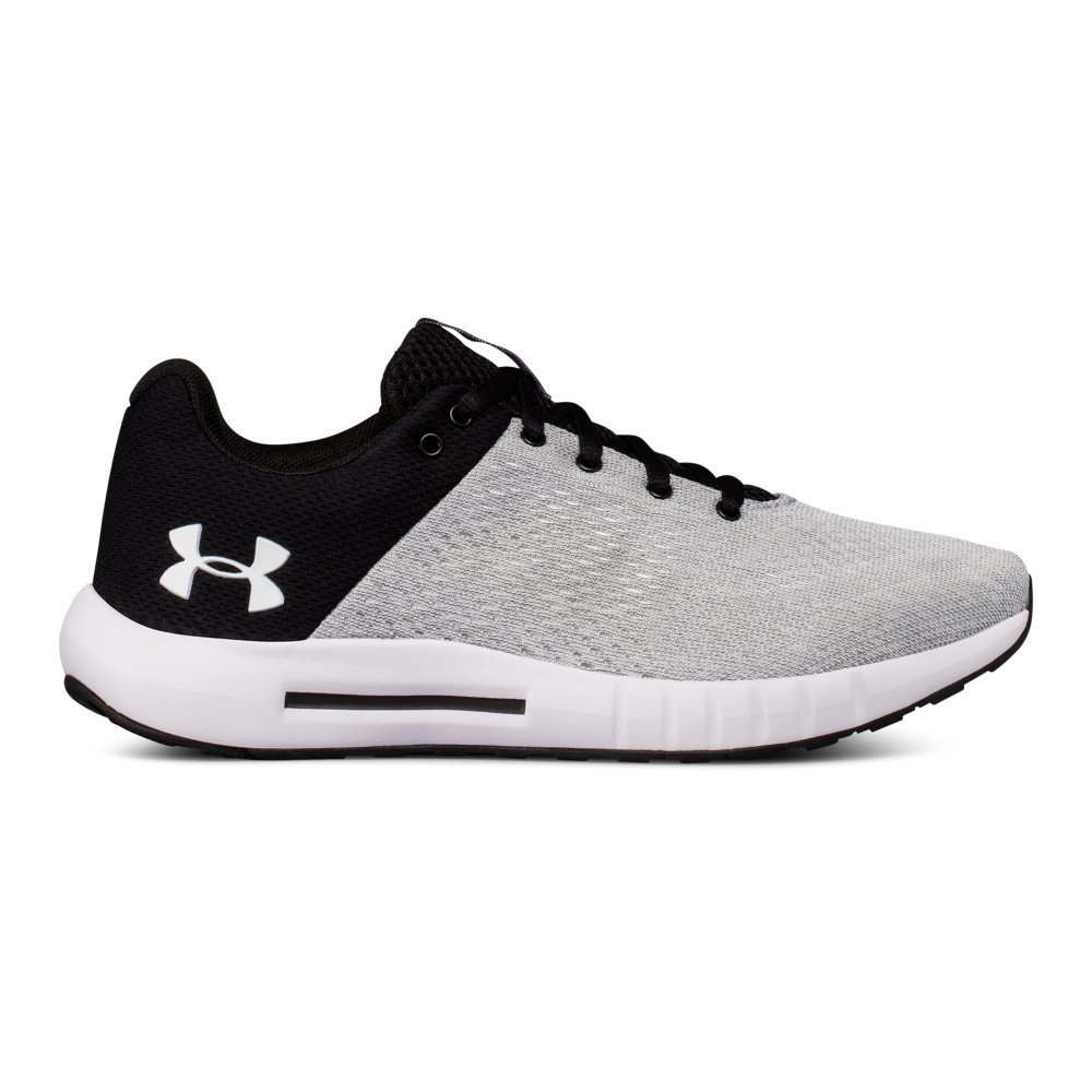 Under Armour Women's Micro G Pursuit Sneaker B07B6BBHXV 7 B(M) US|White/ Black/ White