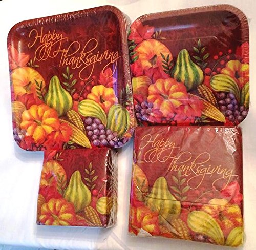 Thanksgiving Words Plates and Napkin Sets & Glamorous Thanksgiving Disposable Dinnerware Gallery - Best Image ...