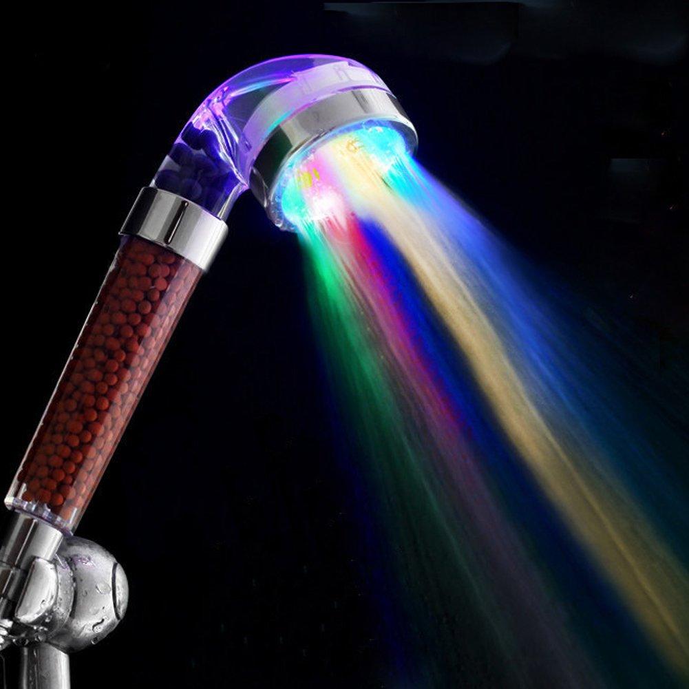 Grifo led de agua de 7 colores que cambian por sensor de temperatura bañ o niñ os, cocina, ducha relax, bañ o zen, cambia luz con temperatura 2017 de OPEN BUY baño zen