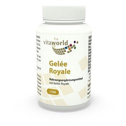 Jalea Real 100 Cápsulas - Vita World Producción Farmacia Alemania Cera de Abejas