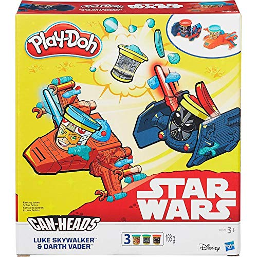 Conjunto Play-doh Star Wars Veiculo Luke Skywalker E Darth Vader B0001 -hasbro