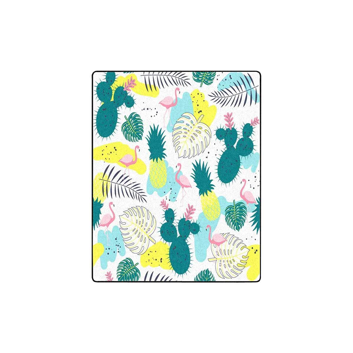 Amazon.com: INTERESTPRINT Tropical Plant and Flamingo Fleece ...