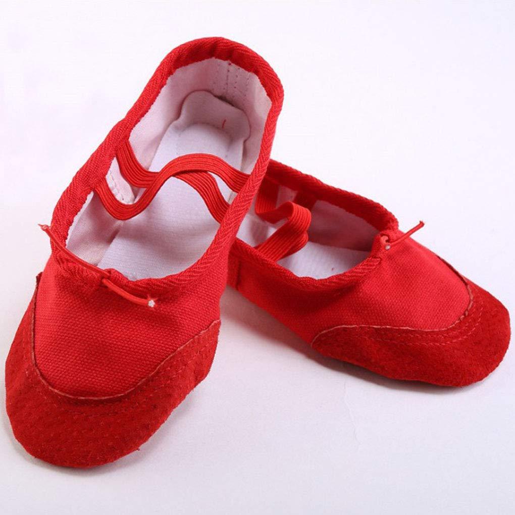 Junecat Ballet de los ni/ños de Zapatos pr/ácticas de Baile Zapatos elasitc Sin Lazo Zapatillas para Adultos Pointe Danza de la Gimnasia