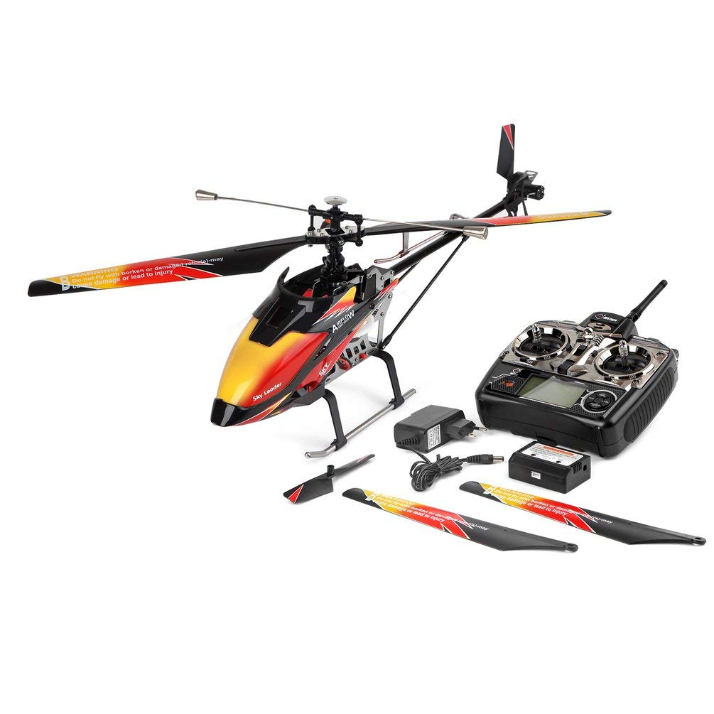 Wltoys V913 Brushless 4Ch eingebaute Gyro Super Stable Flight Rc Hubschrauber -Orange (Eu)
