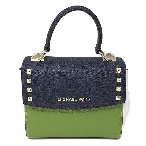 MICHAEL KORS ADELE Schwarz Schultertasche Handtasche Leder