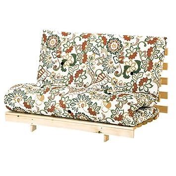Changing Sofas Flower Design Large Double Futon 140cm Wide