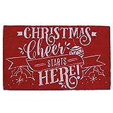 DII Indoor/Outdoor Natural Coir Easy Clean Rubber Back Entry Way Doormat For Patio, Front Door, All Weather Exterior Doors, 18 x 30'' - Christmas Cheer