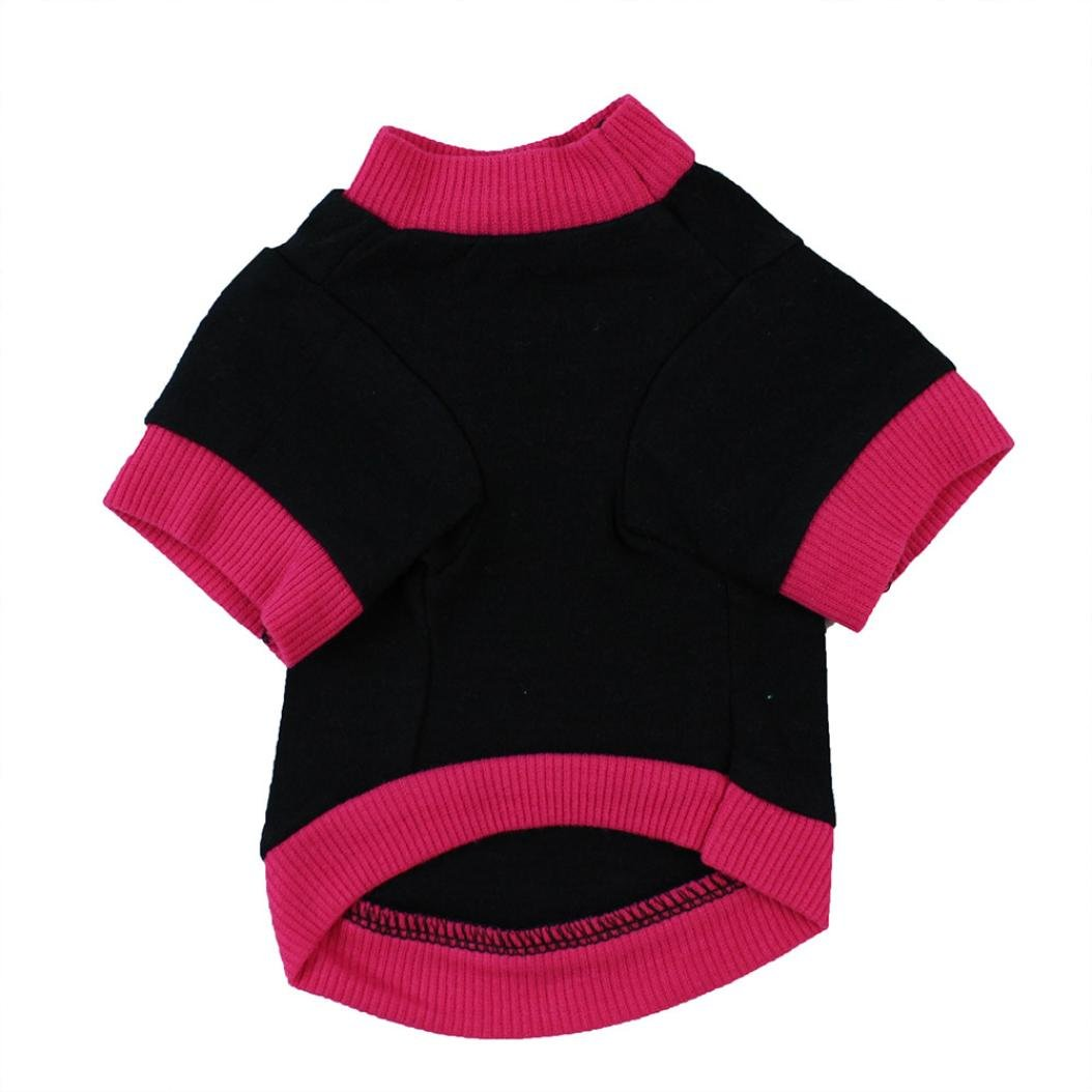 Dog Clothes, Pet Puppy Letter Apparel Cotton T-Shirt For Small Dog Boy (Black, S) by Wakeu Pet Supplies (Image #2)