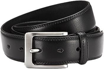 Eg-Fashion Herren Anzug-Gürtel 3,5 cm Breite Business Leder Gürtel - Individuell kürzbar durch Schraubhalterung an der Schnalle