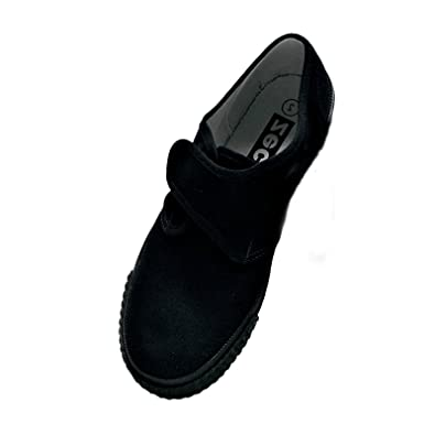 485b352fd64 Zeco Supplied By Essential Wear School Girls Boys Adults Black Plimsoles  Pumps Plimsolls  Amazon.co.uk  Shoes   Bags
