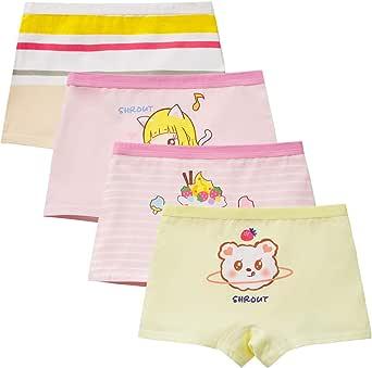 4 Pack Girls Boyshort Hipster Panties Cotton Panty Underwear Safty Panties