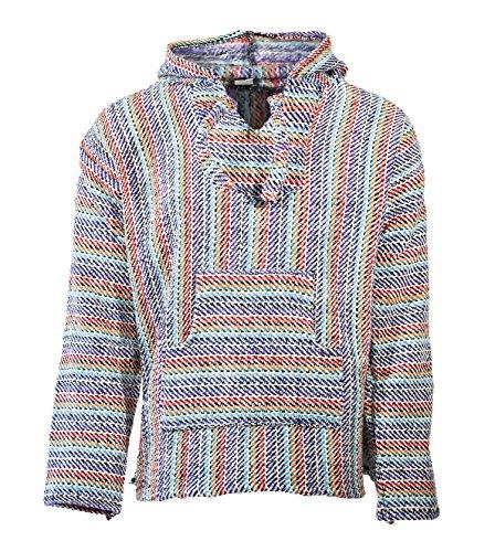 (Funny Guy Mugs Premium Baja Hoodie Sweatshirt Pullover Jerga Poncho (Paradise, Small))
