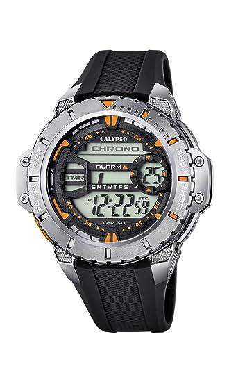 Calypso Watches Reloj Digital para Hombre de Cuarzo con Correa en Caucho K5689_6: Amazon.es: Relojes