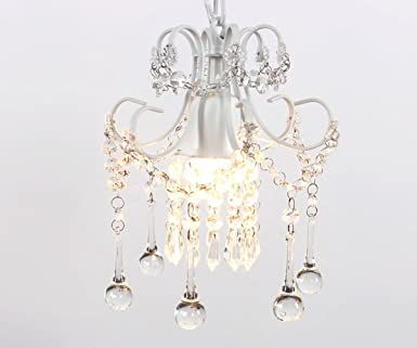 Mini style crystal chandelier pendant light white 1 light mini style crystal chandelier pendant light white1 light mozeypictures Image collections