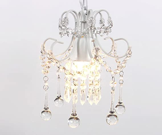 Mini style crystal chandelier pendant light white 1 light mini style crystal chandelier pendant light white1 light mozeypictures Images