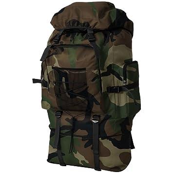 0f44055b87 vidaXL Sac à Dos en Style Militaire pour Camping randonnée 40/65/100 ...