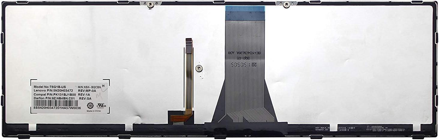 New for Lenovo Z50-70 Z50-75 US Backlit Keyboard Silver Frame
