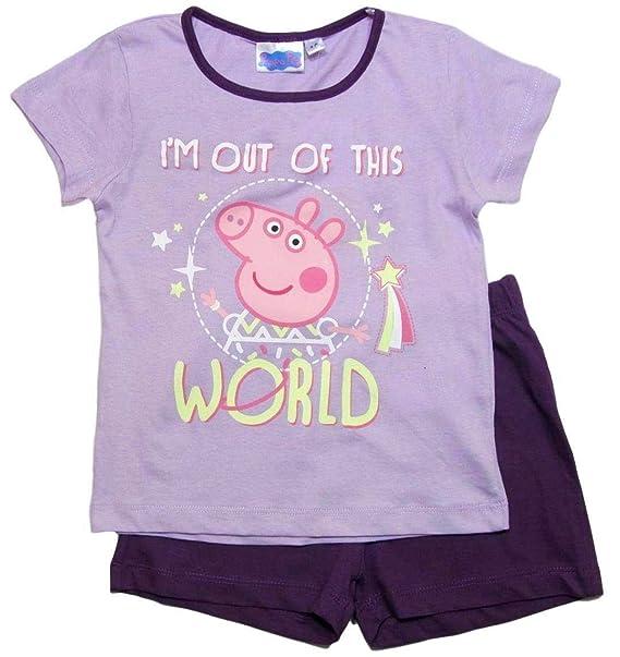 Peppa Pig - Peppa Wutz - Pijama - para niña Morado 98/104 cm ...