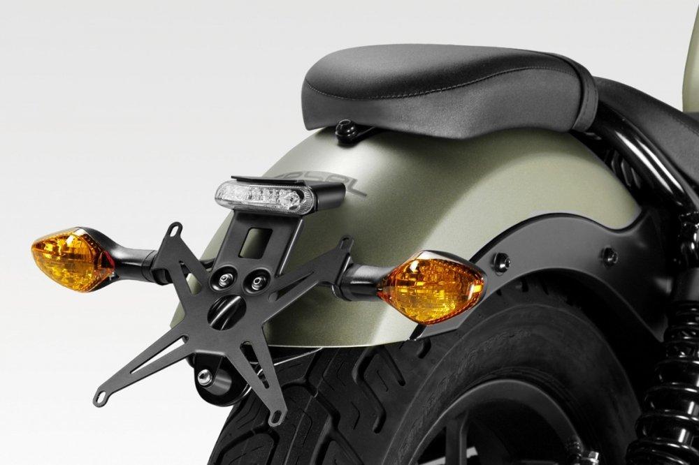 CMX500 Rebel 2017 - Kit Porte Plaque (S-0805) - Support de Plaque d'Immatriculation - Visserie et Lumiè re LED Inclus - Accessoires De Pretto Moto (DPM) - 100% Made in Italy