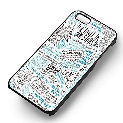 Unique The Fault in Our Stars Quote Art pour Coque Iphone 5 or Coque Iphone 5S or Coque Iphone 5SE Case (Noir Boîtier en plastique dur) U1M0GC