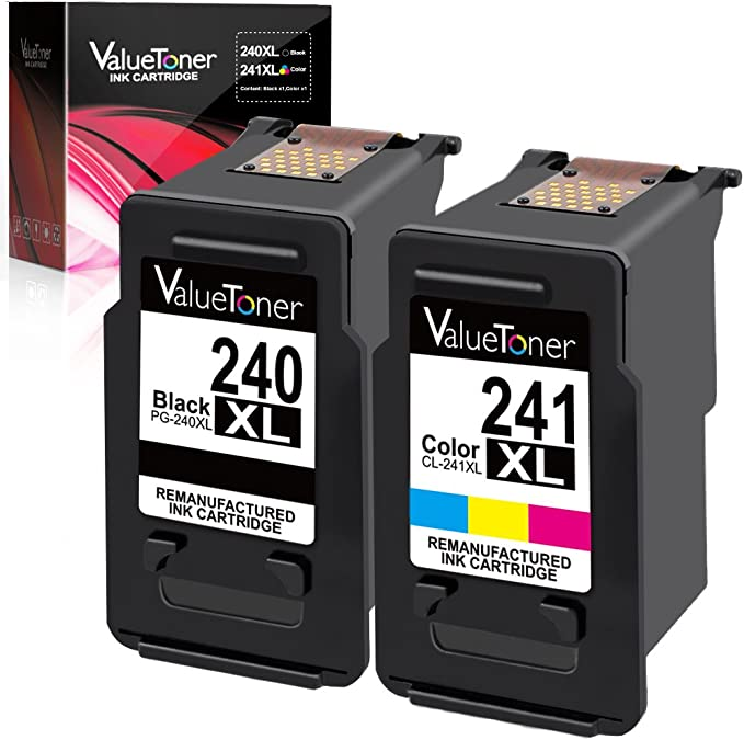 Valuetoner Remanufactured Ink Cartridge Replacement for Canon PG-240XL CL-241...